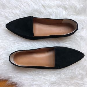 J. Crew | Black Edie Loafers Faux Suede 10